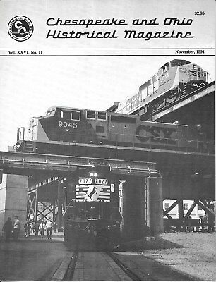 C&O Chesapeake & Ohio Nov.1994 Canal Winchester Ohio General Electric AC CSXT for sale  Shipping to India