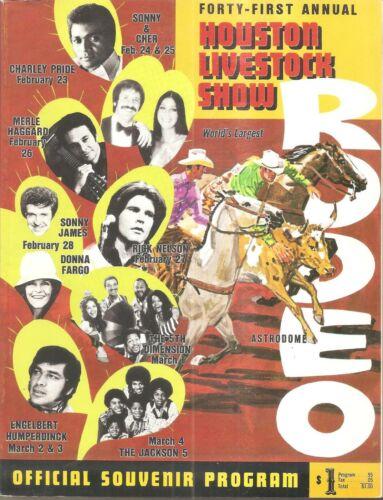 HOUSTON LIVESTOCK SHOW & RODEO 1973 COMPLETE PROGRAM/ SONNY-CHER/MICHAEL JACKSON