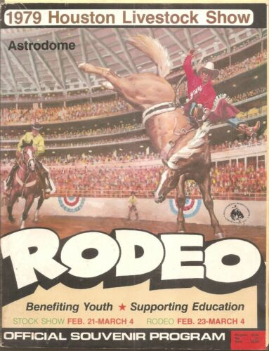 HOUSTON LIVESTOCK SHOW AND RODEO 1979 COMPLETE PROGRAM/ OSMONDS/PAT-DEBBY BOONE+