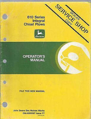 John Deere 610 Series Integral Chisel Plow Operators Manual Om-n20009 Issue F7