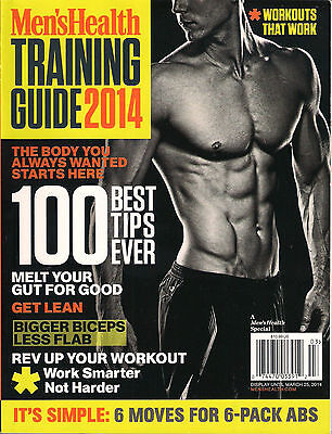 Men's Health TRAINING GUIDE 2014 100 Best WORKOUT Tips Nutrition Plan Muscle Abs for sale  Shipping to India