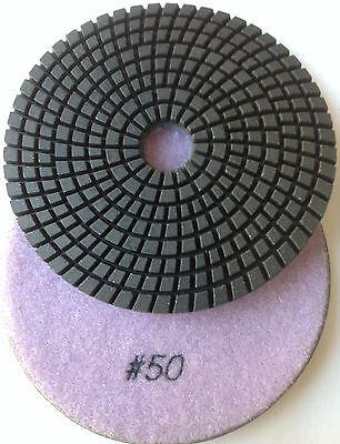 "5"" Inch GA Diamond Polishing Pad WET 50 GRIT DPP126"