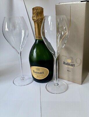 Ruinart Brut Champagner Flasche 0,375l 12%Vol + 2 Ruinart Gläser