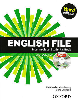ENGLISH FILE Intermediate Third Ed Student Book w iTutor & iChecker DVD-ROM @New