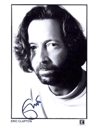 Eric Clapton Hand Signed 8x10 B&W Press Photo