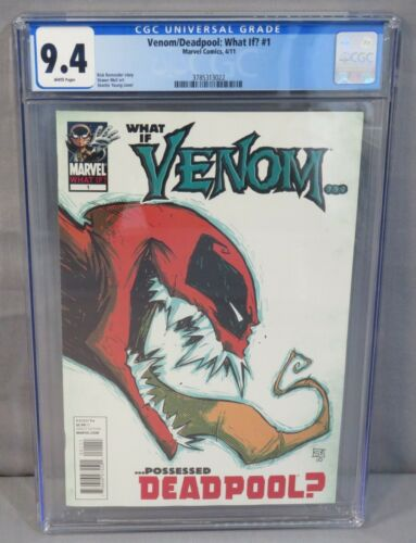 VENOM/DEADPOOL: WHAT IF? #1 (White Pages) CGC 9.4 NM Marvel 2011 Skottie Young