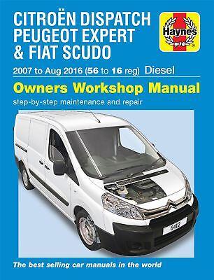 Citroen Dispatch Peugeot Expert, Fiat Scudo Diesel 56-16 07-16 Haynes Manual