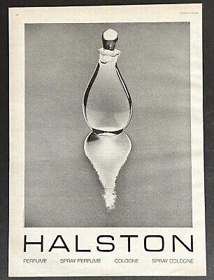 HALSTON 16 perfume Bottle Image Art 1975 Vintage Print Ad