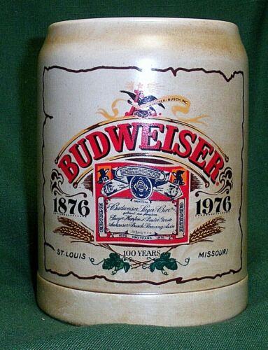 1976 Budweiser Centennial stein  CS22 1876-1976 Ceramarte