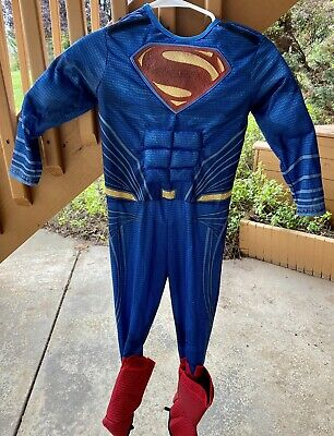 Superman Boys Small Muscle Bodysuit Rubies Halloween Costume PreOwned - no cape
