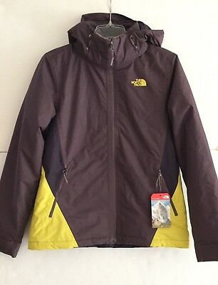 The North Face Women's Medium Insulated Agave Triclimate Jacket Black Plum 2017