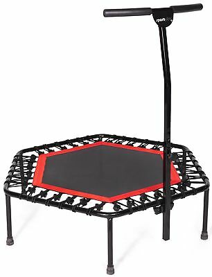 SportPlus Silent Fitness Mini Trampoline with Handle Bar / O