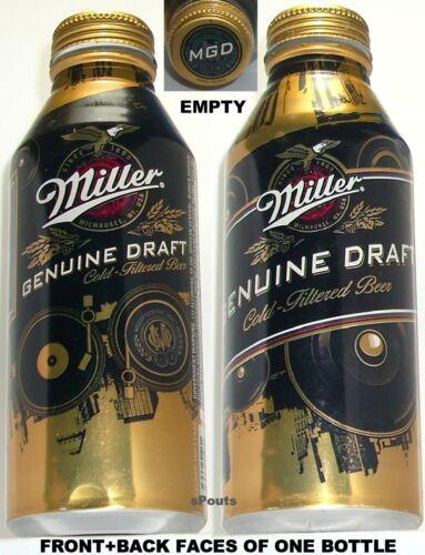 2013 MILLER GENUINE DRAFT PINT GOLD EAGLE ALUMINUM BOTTLE BEER CAN MILWAUKEE, WI