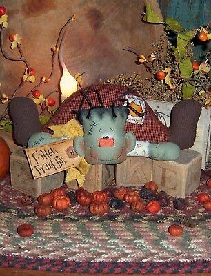 Primitive Patti's Ratties Halloween Frankenstein Ornie Doll Paper Pattern 357