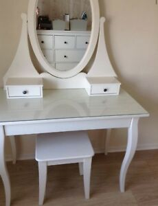 Ikea Hemnes dressing table/ desk with mirror white
