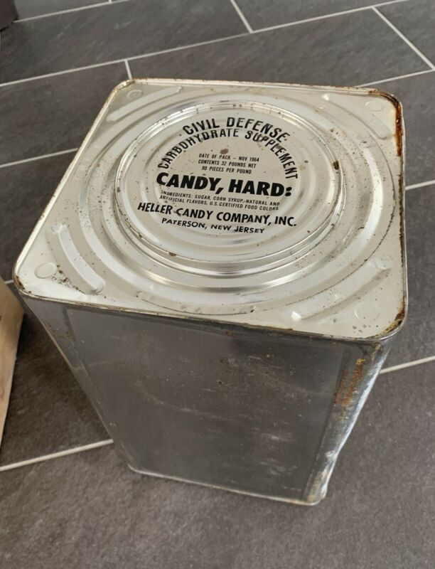 Cold War Military Rations Civil Defense Carbohydrate Supplement Hard Candy 1964
