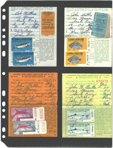 50 Stock Pages / Sheets 2V (Vertical) Holds Licenses Collection. FREE SHIPPING