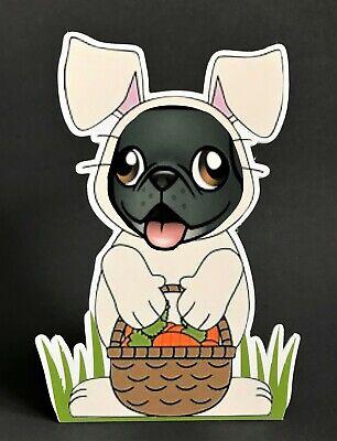 Black Pug Easter Bunny 7in Decor ](Pug Decor)
