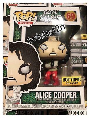 Funko Pop Rocks  69 Alice Cooper Hot Topic Exclusive In Hand Now