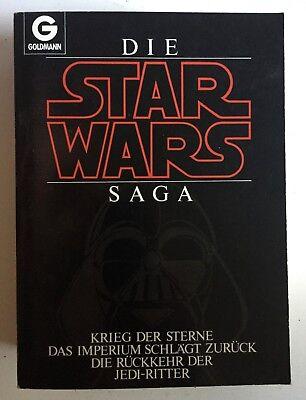 STAR WARS SAGA G. Lucas 3 Teile in 1 Buch Goldmann tiptop