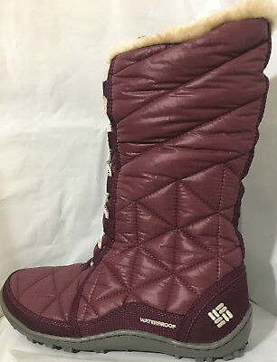 Nib Columbia Womens Powder Summit Ii Waterproof Lace Up Winter Snow Boots Purple