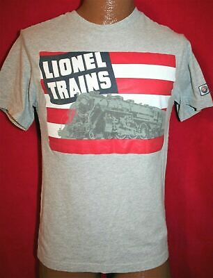 1940s Men's Shirts, Sweaters, Vests Lionel Trains T-Shirt 1940's US Flag & Steam Engine Catalog Cover Hudson Adult S $12.99 AT vintagedancer.com