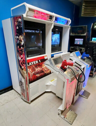 Time Crisis 4 Twin (2) Linked Shooting Arcade Video Game Machine! WORKING GOOD!