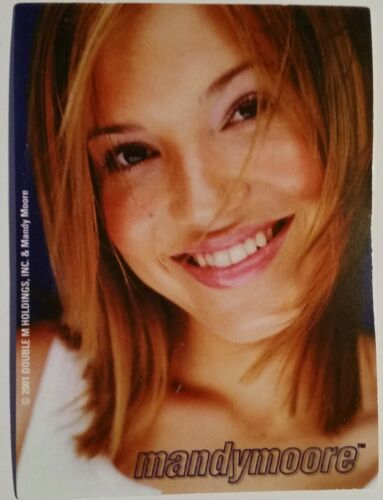 MANDY MOORE--NEW--Vintage (2001) Vending Machine Sticker (#64)