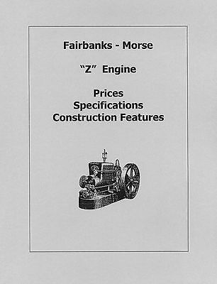 Fairbanks Morse Z Engine Prices Specs. And Features