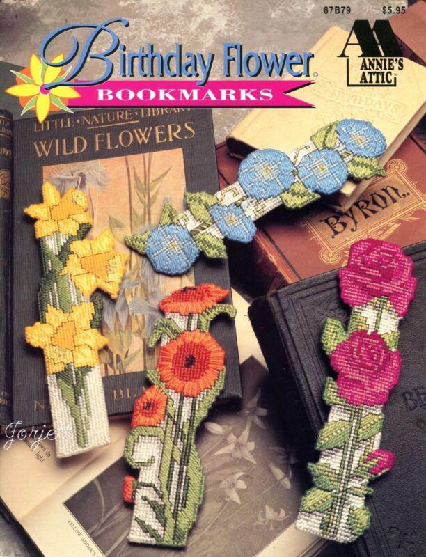 Birthday Flower Bookmarks ~ 12 Florals, Annie