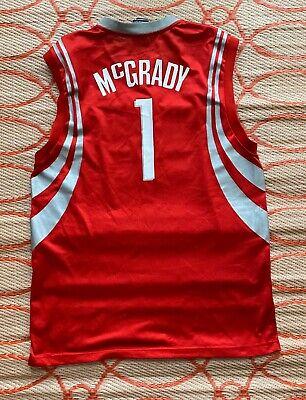 Vintage Mens Reebok NBA Houston Rockets Tracy McGrady Jersey SZ L VTG EUC