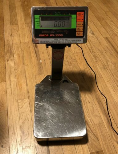 Ishida MG-3000 Scale Check Weigher Commercial Food Retail 15 x 0.005 lb Japan