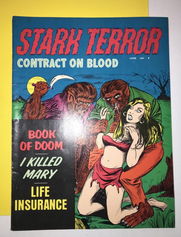 1971 STARK TERROR VOL 1, # 4, Stanley Publication ( Lot 368) Bondage , Werewolf