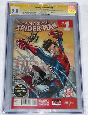 Amazing Spider-Man #1 CGC SS Signature Autograph STAN LEE RAMOS 1st D Variant 🔥
