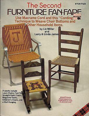 Möbel Fan (Buch nur #7629 Möbel Fan-Fare II Rare Makramee Stuhl Muster & Mehr)