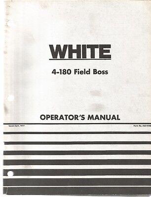 White 4-180 Field Boss Tractor Operators Manual