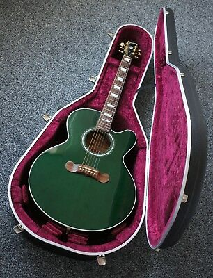 GIBSON L4A BEAUTIFUL RARE GREEN FLAMED ELECTRO ACOUSTIC GUITAR MASTERBUILT 2003