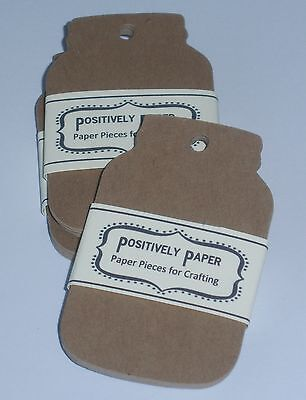 100 Blank Kraft Mason Jar Price Gift Tags Handmade Labels Cardstock