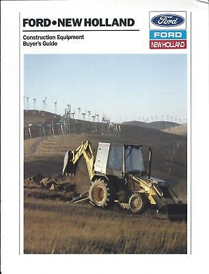 Construction Equipment Brochure - Ford New Holland - Buyers Guide 1989 E4260