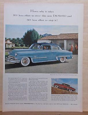 1953 magazine ad for De Soto - Firedome & Powermaster photos