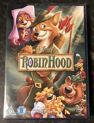 ROBIN HOOD DISNEY DVD BRAND NEW & FACTORY SEALED MINT CONDITION