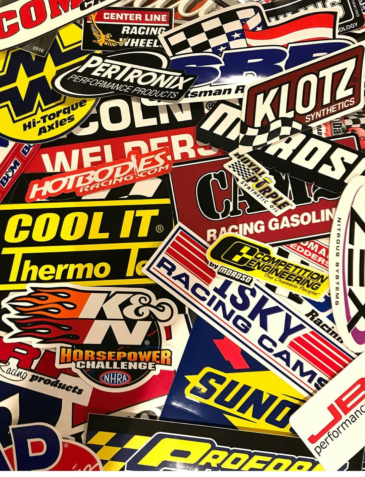 Racing Decals Sticker Lot Set 25 Assorted Body US FREE SHIP NASCAR NHRA RANDOM