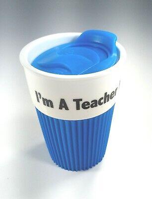 Coffee Travel Mug, Tumbler, I'm a Teacher, What's Your Super Power, ceramic.