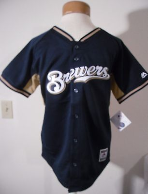 NWT Majestic Milwaukee Brewers Carlos Gomez Youth Replica Jersey XL Navy MSRP$60 Brewers Youth Replica Jersey