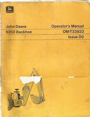 John Deere 9250 Backhoe Operators Manual
