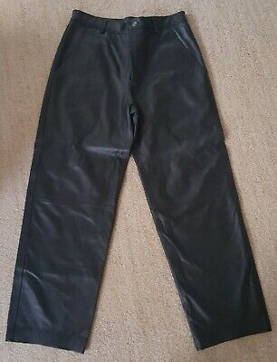 Black Leather Pants Men