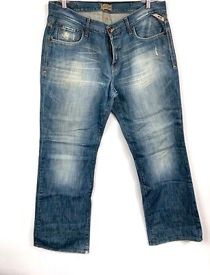 Jack Jones vintage denim men's jeans Gate Style Made In Italy 38x34 Distressed for sale  Shipping to India
