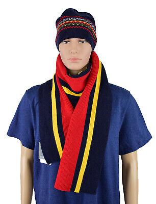Michael Bastian Herren Marine Lambswool-Mischung Norweger Ski Wool Beanie Herren