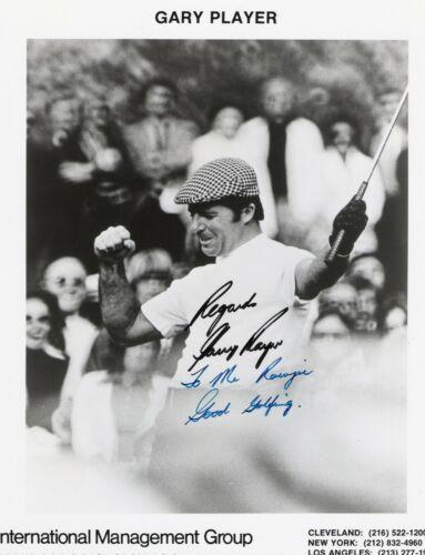 Gary Player. Professional Golfer. B/w, 8x10, Inscribed Photo