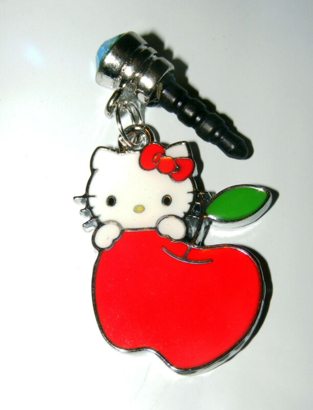 Hello Kitty Apple a day teacher Cell phone dust cover Plug